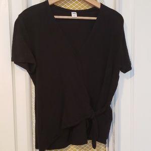 Short Sleeved Wrap Blouse